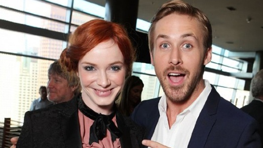 Christina Hendricks and Ryan Gosling Image