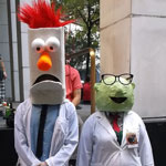 Dragon*Con 2012: Cosplay: Dr. Bunsen Honeydew and Beaker