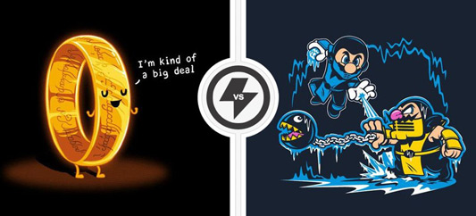 Twofury: Lord Of The Rings & Super Mario Bros. Shirt