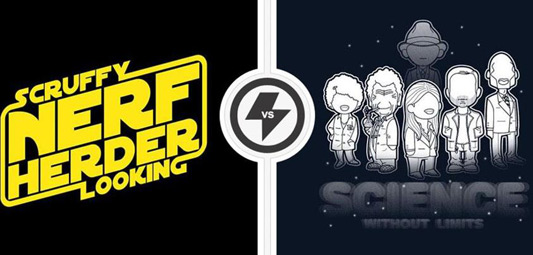 Twofury: Star Wars & Fringe Shirts