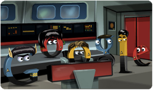 Google Doodle Star Trek 46th Anniversary