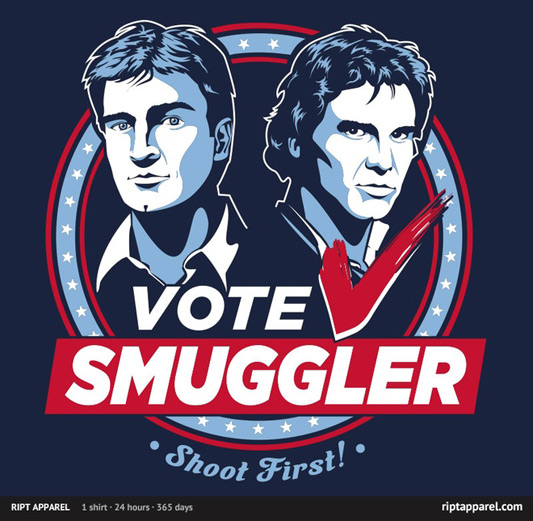Star Wars/Firefly Vote Smuggler Shirt