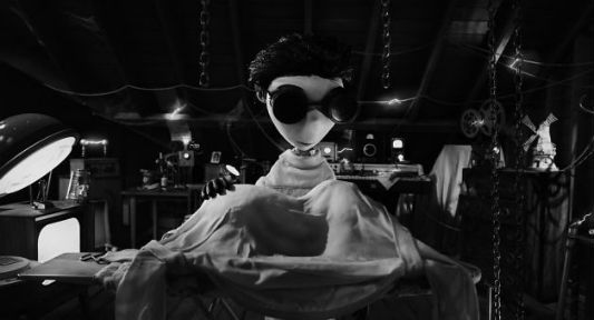 """Frankenweenie"" character Victor tries to resurrect his deceased dog, Sparky"