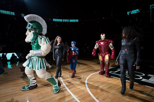 MSU Coach as Iron Man