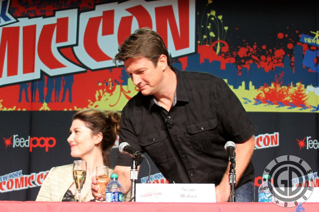NYCC 2012: Firefly 10th Anniversary panel: Nathan Fillion and Jewel Staite
