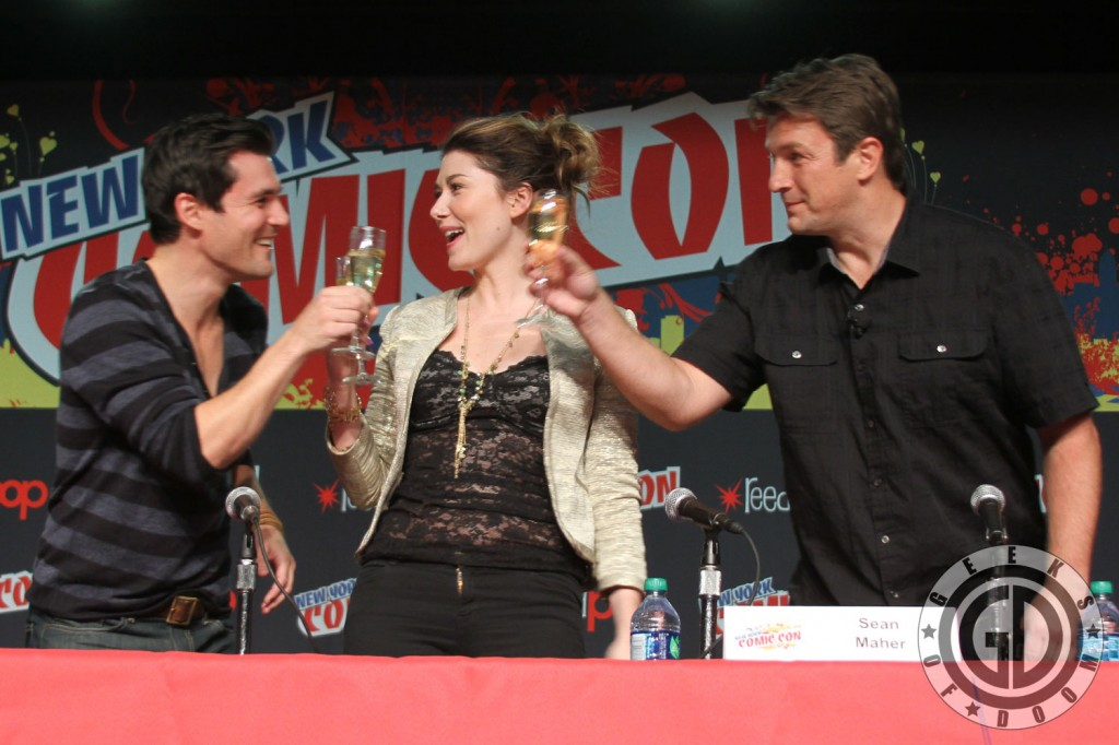 NYCC 2012: Firefly 10th Anniversary panel: Sean Maher, Jewel Staite, and Nathan Fillion