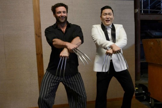 Hugh Jackman and PSY Wolverine &quot;Gangnam Style&quot; Image