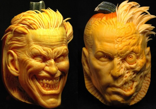 Joker &amp; Two-Face Pumpkins Image
