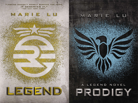 Legend and Prodigy book covers