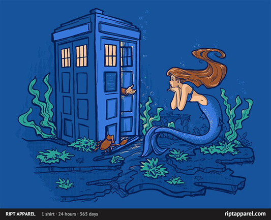 Doctor Who Little Mermaid Part of Every World Shirt