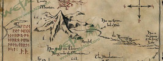 Thorins Map parchment art print