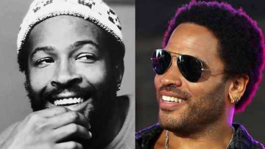 Marvin Gaye and Lenny Kravitz