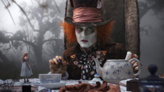 Johnny Depp as the Madd Hatter in Tim Burton's Alice in Wonderland