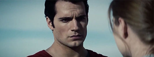 Man of Steel stares at Lois Lane