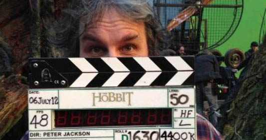 Peter Jackson on 'The Hobbit' set