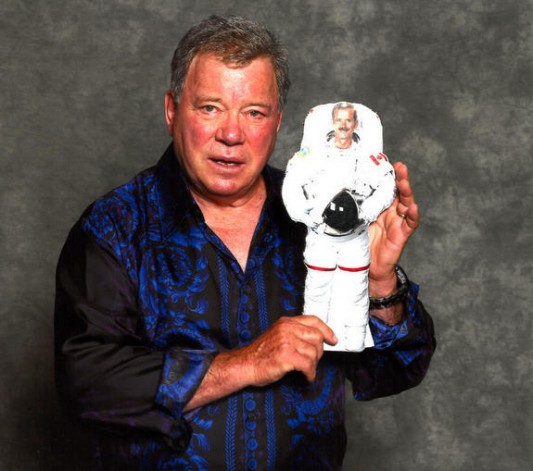 William Shatner holding Chris Hadfield 2D