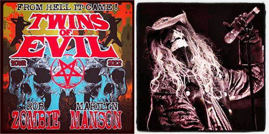 Twins of Evil tour poster: Rob Zombie
