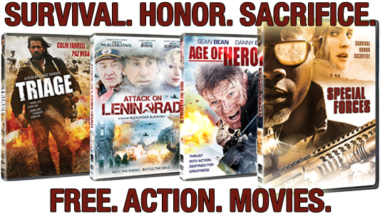 Special Forces DVD action pack banner