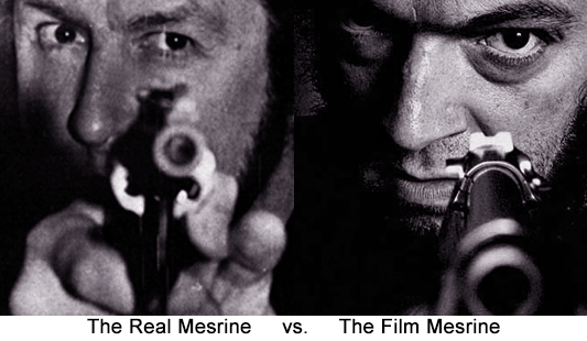 Comparison between the REAL Jacques Mesrine and actor Vincent Cassel