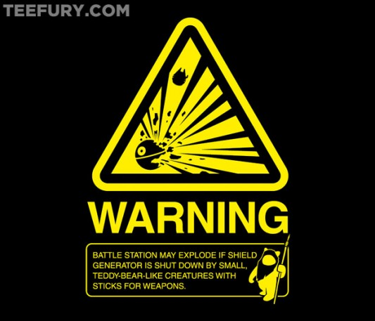 Star Wars Empire Warning Label Shirt