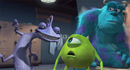 Randall can certainly intimidate Mike Wazowski