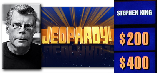 Stephen King Jeopardy banner