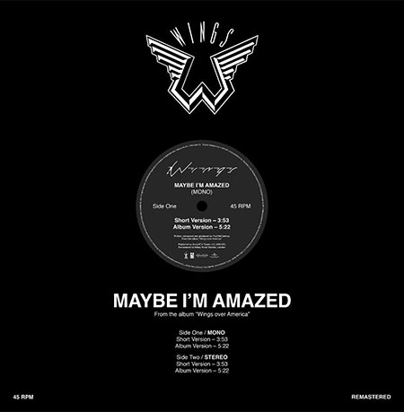 Paul McCartney Maybe I'm Amazed Record Store Day Vinyl