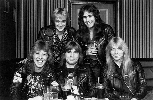 Clive Burr with Iron Maiden