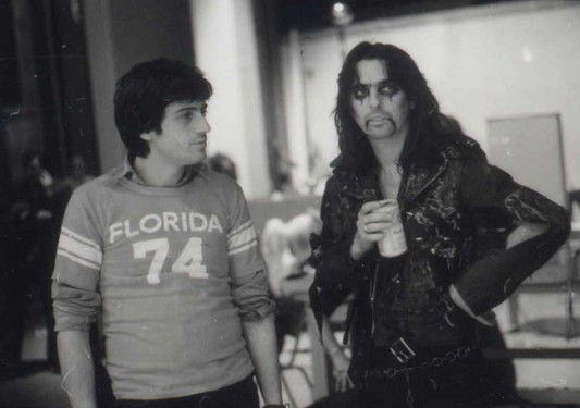 Bob Ezrin and Alice Cooper