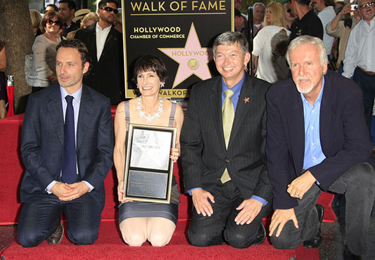 Andrew Lincoln, Gale Anne Hurd, Leron Gubler, James Cameron