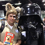 Barf and Dark Helmet cosplay from Spaceballs
