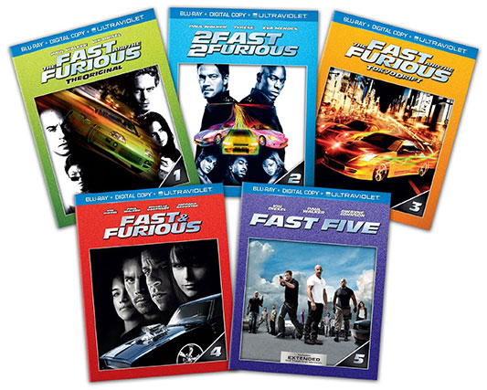 Fast and Furious 1-5 Blu-ray Bundle