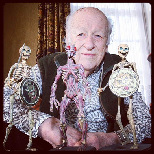 Ray Harryhausen and his creatures