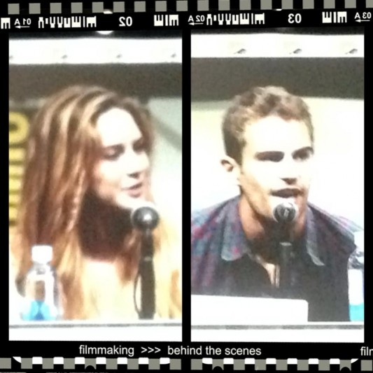 SDCC 2013: Shailene Woodley (Tris) and Theo James (Four) from Divergent