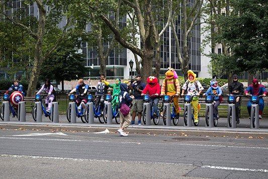 Superheroes & Sesame Street Characters On NYC's Citi Bikes