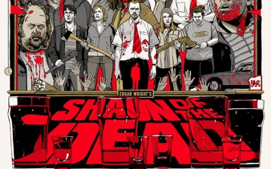 Tylert Stout Shaun Of The Dead Mondo Poster
