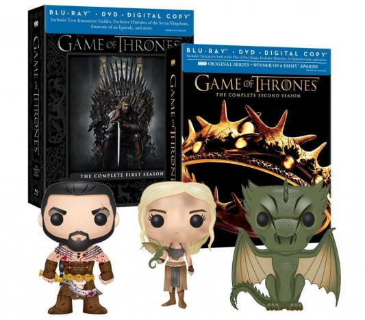 Game of Thrones Seasons 1 & 2 with 3 Amazon Exclusive Funko Pop Vinyls Blu-ray