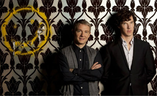 Sherlock smiley face wallpaper