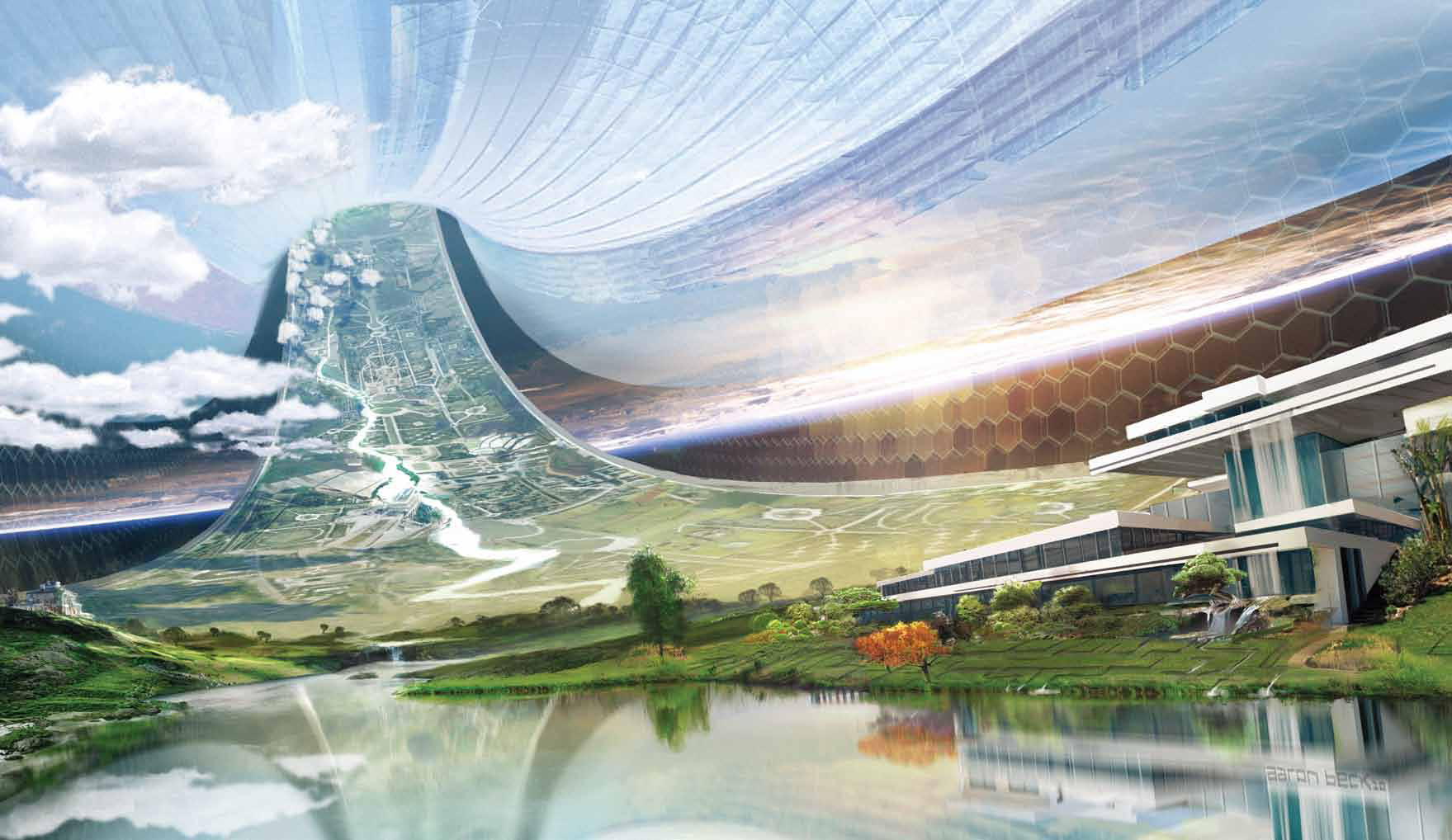 Elysium interior concept art for Da architecture
