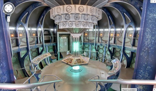 Google Maps Doctor Who TARDIS Easter Egg interior