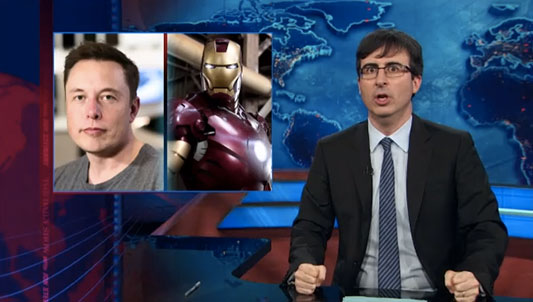 John Oliver The Daily Show Iron Man rant