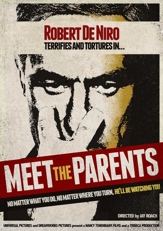 Meet The Parents 1950's Style Robert De Niro Movie Posters by Original Penguin