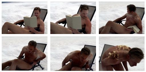 Eric Northman nude sunbath True Blood Season 6 finale