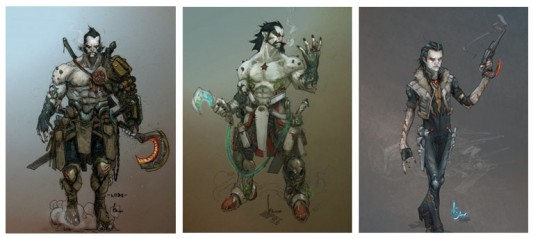 DC Comics proposed designs for new Lobo by Kenneth Rocafort