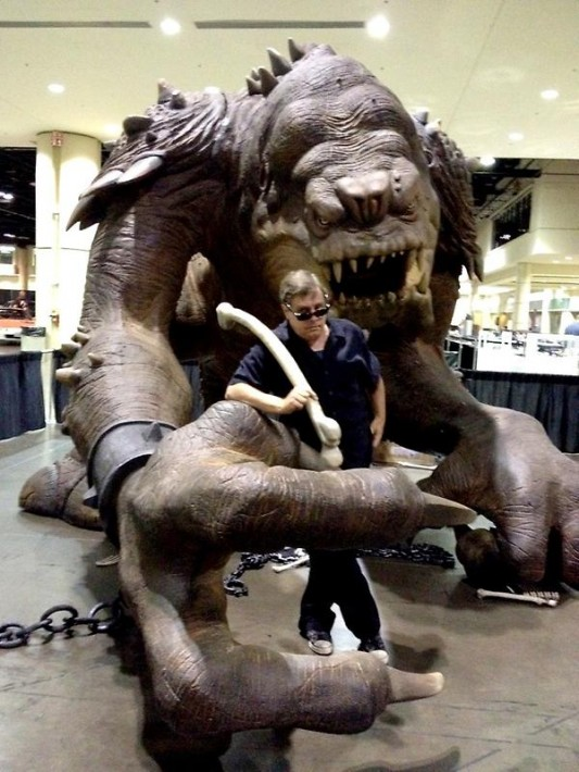 Star Wars Mark Hamill and the Rancor