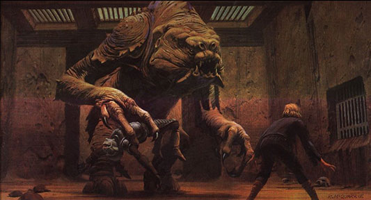 Ralph McQuarrie Luke Skywalker and the Rancor Return of the Jedi