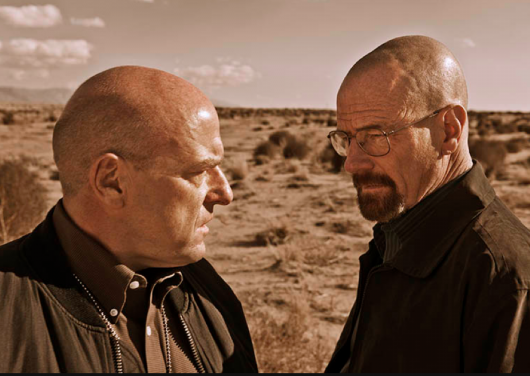 Hank Schrader (Dean Norris) and Walter White (Bryan Cranston) Photo by Frank Ockenfels 3/AMC