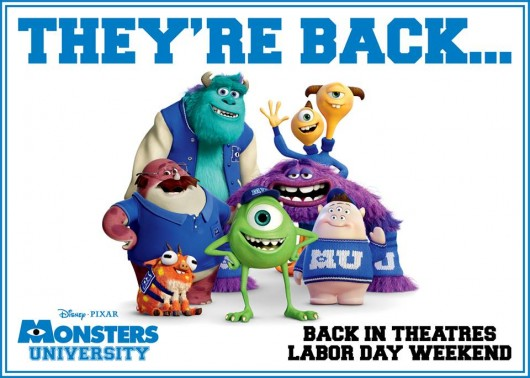 Monsters University Labor Day back to school