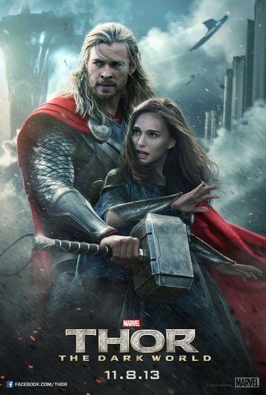 Thor: The Dark World Thor and Jane character poster