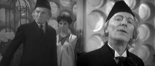 Costume changes made for Doctor William Hartnell between recordings of An Unearthly Child.
